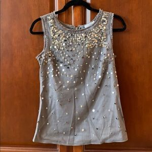 Sequined sleeveless top from Loft
